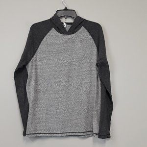 ALO Gray long sleeve two tone contrast hoodie